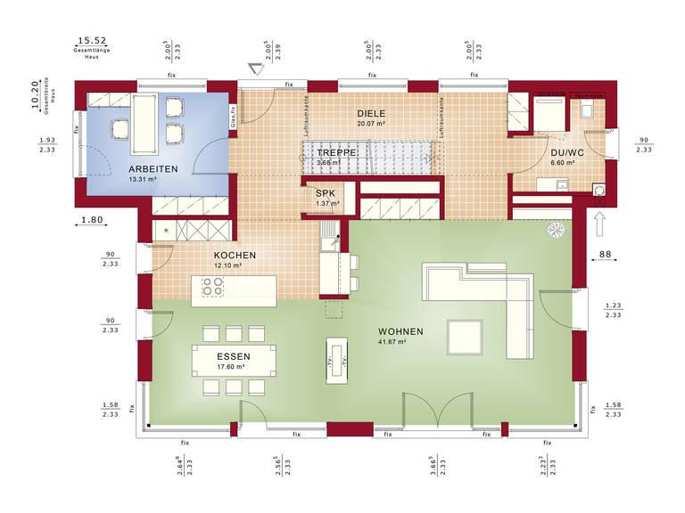 Grundriss EG Concept-M Wuppertal Mod-Classic