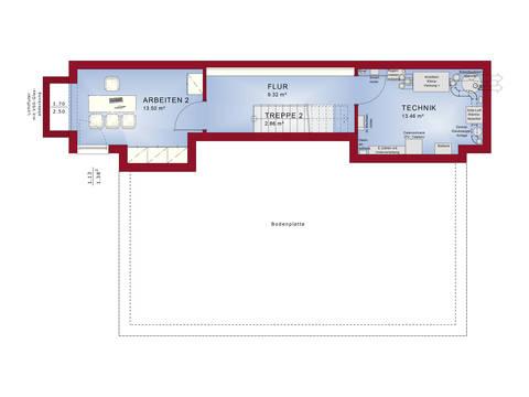 Grundriss KG Musterhaus CONCEPT-M 188 Wuppertal