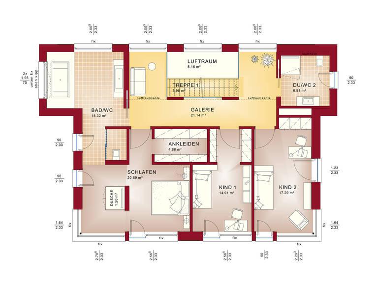 Grundriss OG Concept-M Wuppertal Mod-Classic