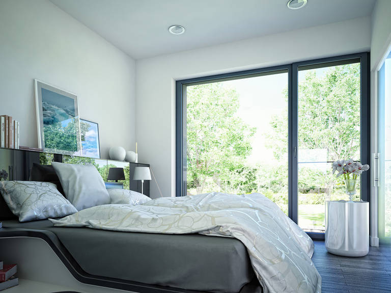 Innenansicht Schlafzimmer Musterhaus CONCEPT-M 188 Wuppertal
