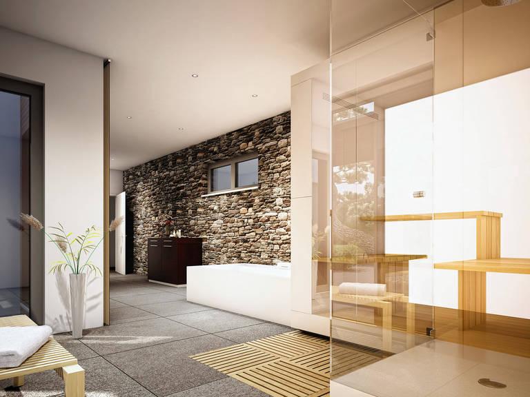 Innenansicht Badezimmer Concept-M Aktionshaus 100 V9 – Bungalow von Bien Zenker