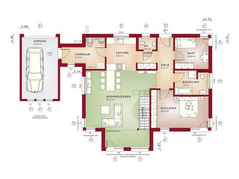 Grundriss EG Concept-M Aktionshaus 100 V9 – Bungalow