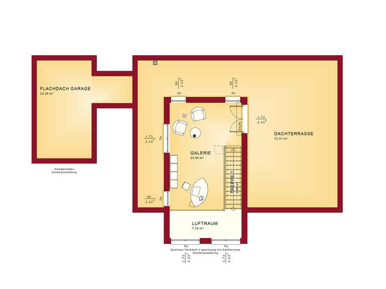 Grundriss OG Concept-M Aktionshaus 100 V9 – Bungalow