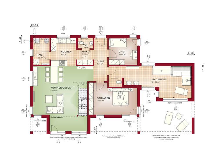 Grundriss EG Concept-M Aktionshaus 100 V10 – Bungalow
