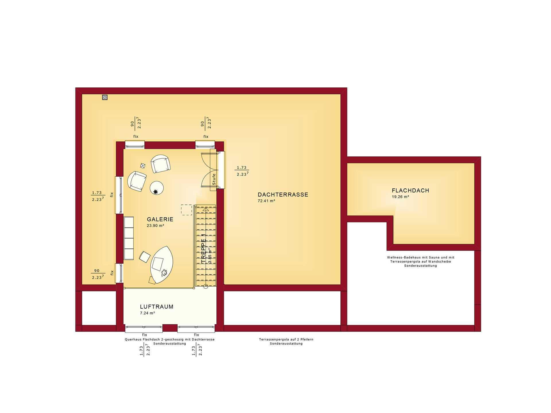 Grundriss OG Concept-M Aktionshaus 100 V10 – Bungalow