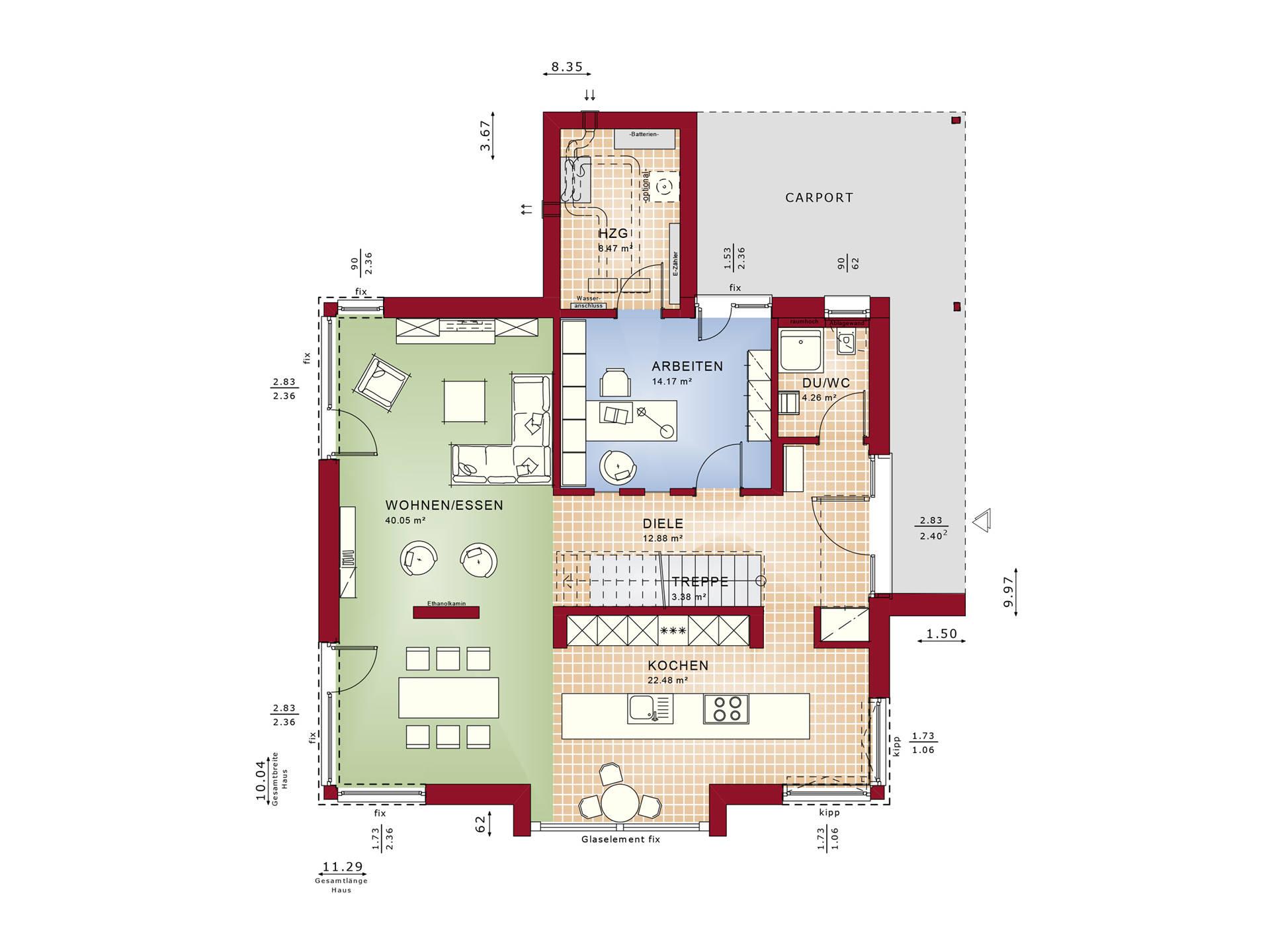 Concept-M Köln Mod-Classic - Architektenhaus Grundriss EG
