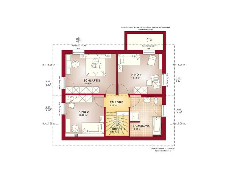 Edition 1 V4 – Einfamilienhaus Grundriss DG
