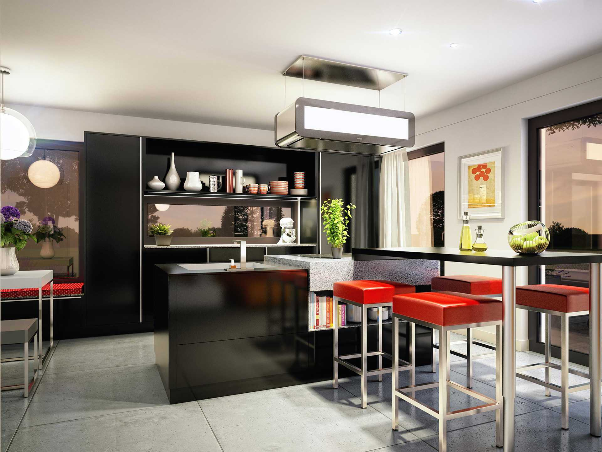 Innenansicht Küche - Edition 1 V4 – Einfamilienhaus von Bien-Zenker