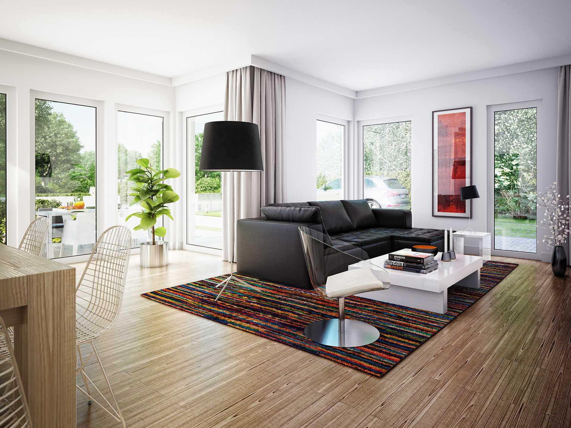 Innenansicht Wohnzimmer - Edition 1 V4 – Einfamilienhaus von Bien-Zenker
