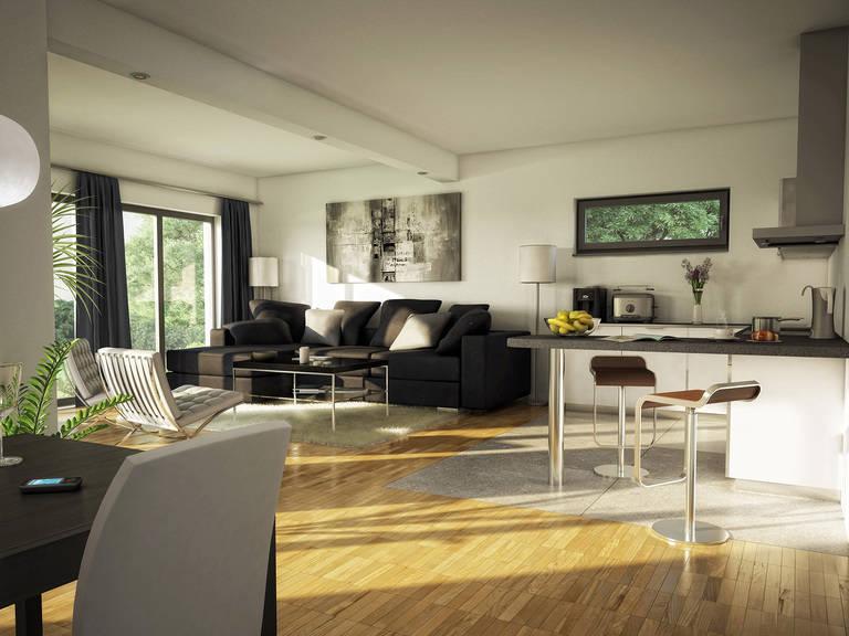 Innenansicht Wohnzimmer - Evolution 111 V5 – Bungalow von Bien-Zenker