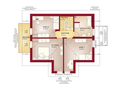 Evolution 122 V4 – Einfamilienhaus Grundriss DG