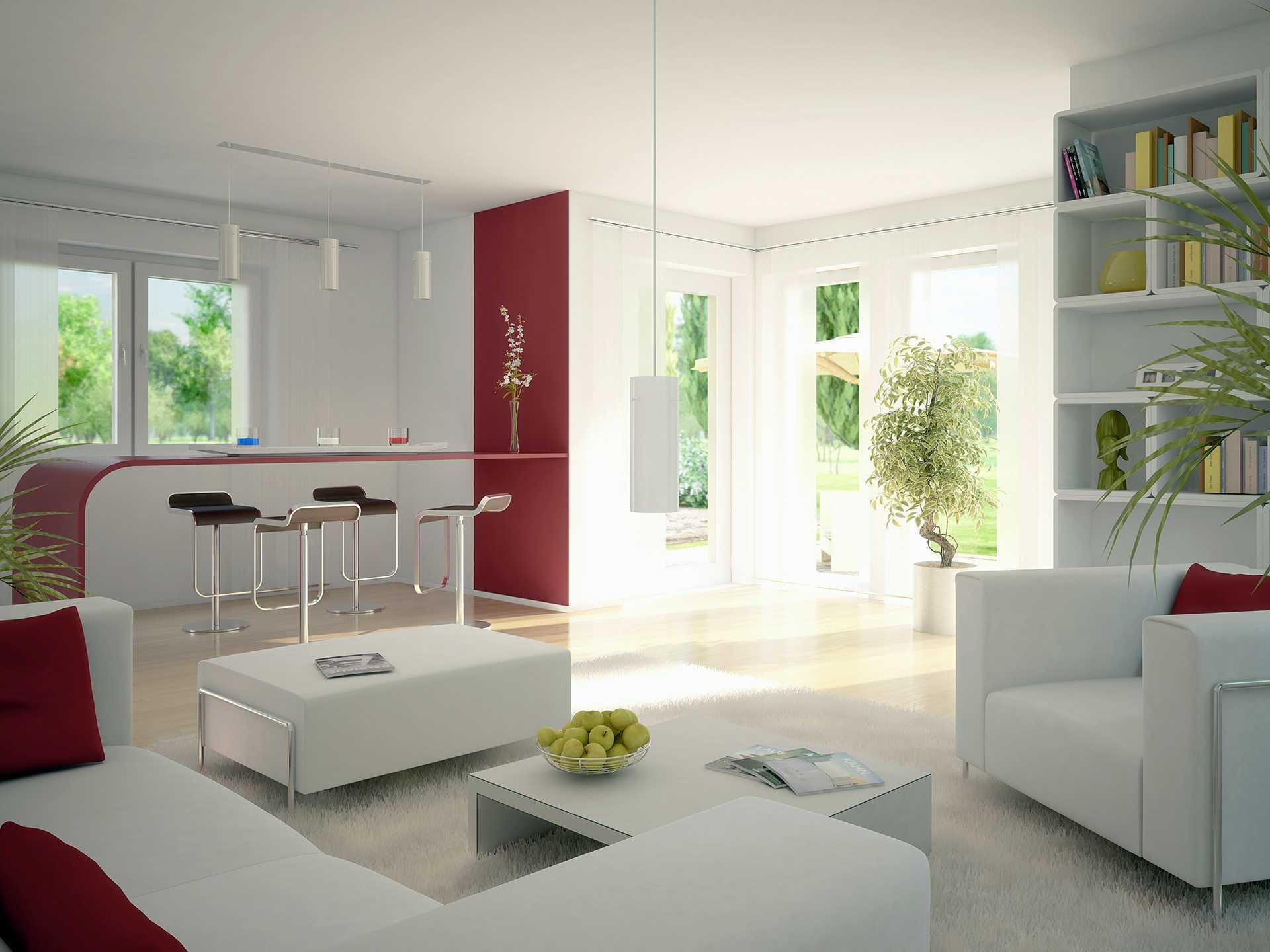 Innenansicht Wohnzimmer - Evolution 122 V8 – Einfamilienhaus von Bien-Zenker