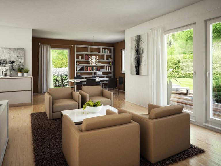Bien-Zenker Evolution 125 V2 Einfamilienhaus Wohnzimmer
