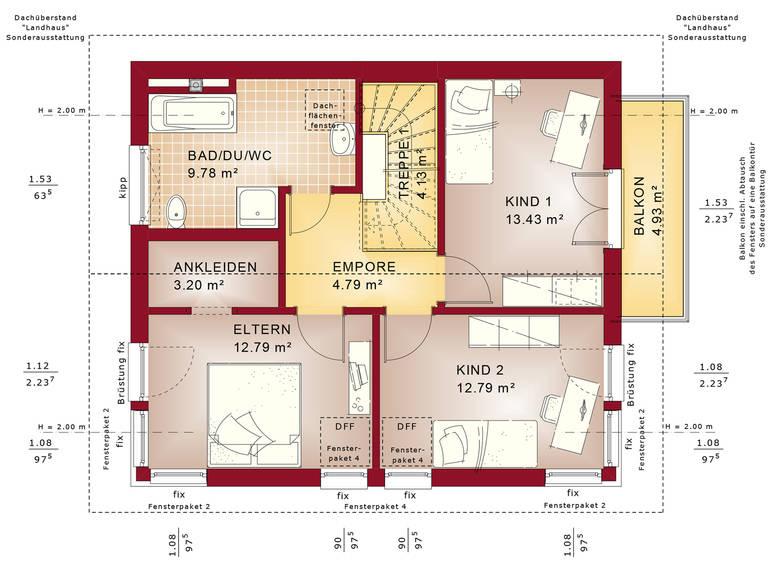 Bien-Zenker Evolution 125 V2 Einfamilienhaus Grundriss DG