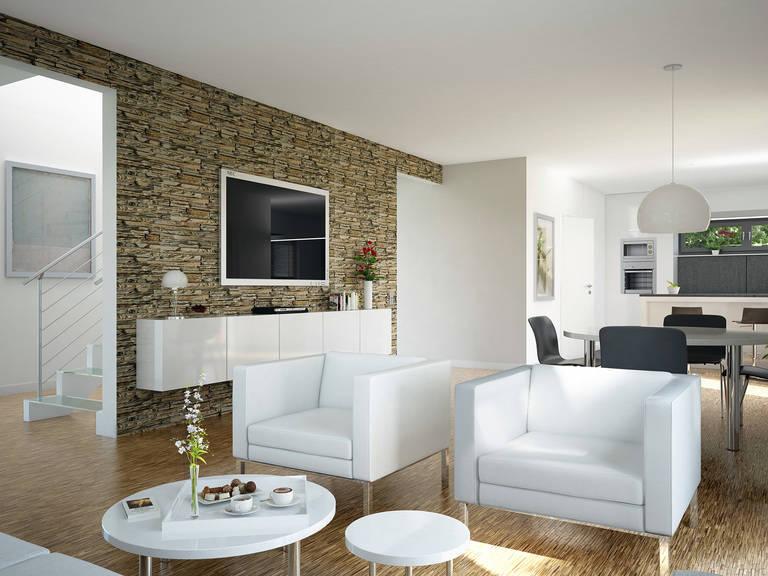Innenansicht Wohnzimmer - Evolution 135 V7 – Einfamilienhaus von Bien-Zenker