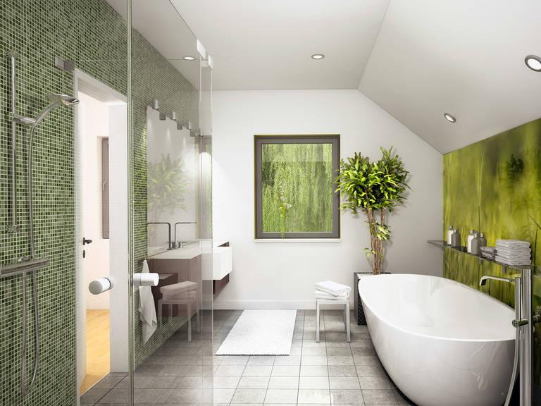 Innenansicht Badezimmer - Evolution 136 V8 – Einfamilienhaus von Bien-Zenker