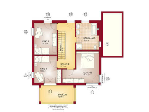 Evolution 136 V8 – Einfamilienhaus Grundriss DG