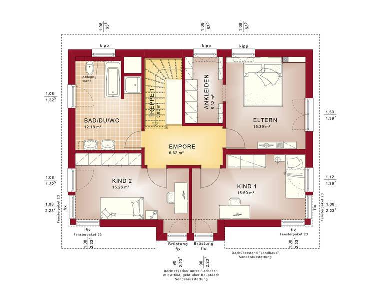 Evolution 148 V9 – Einfamilienhaus Grundriss DG