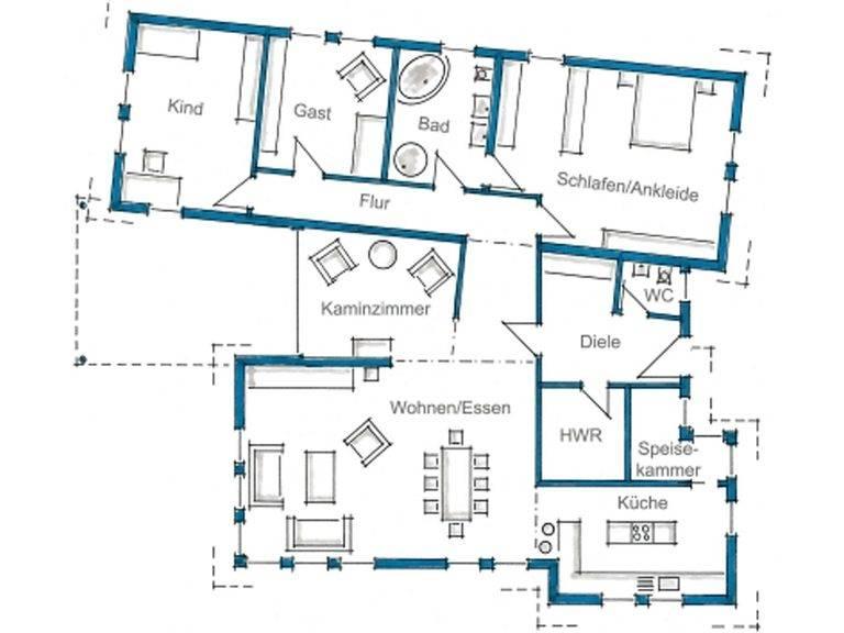 Grundriss Erdgeschoss Haus Ebinger