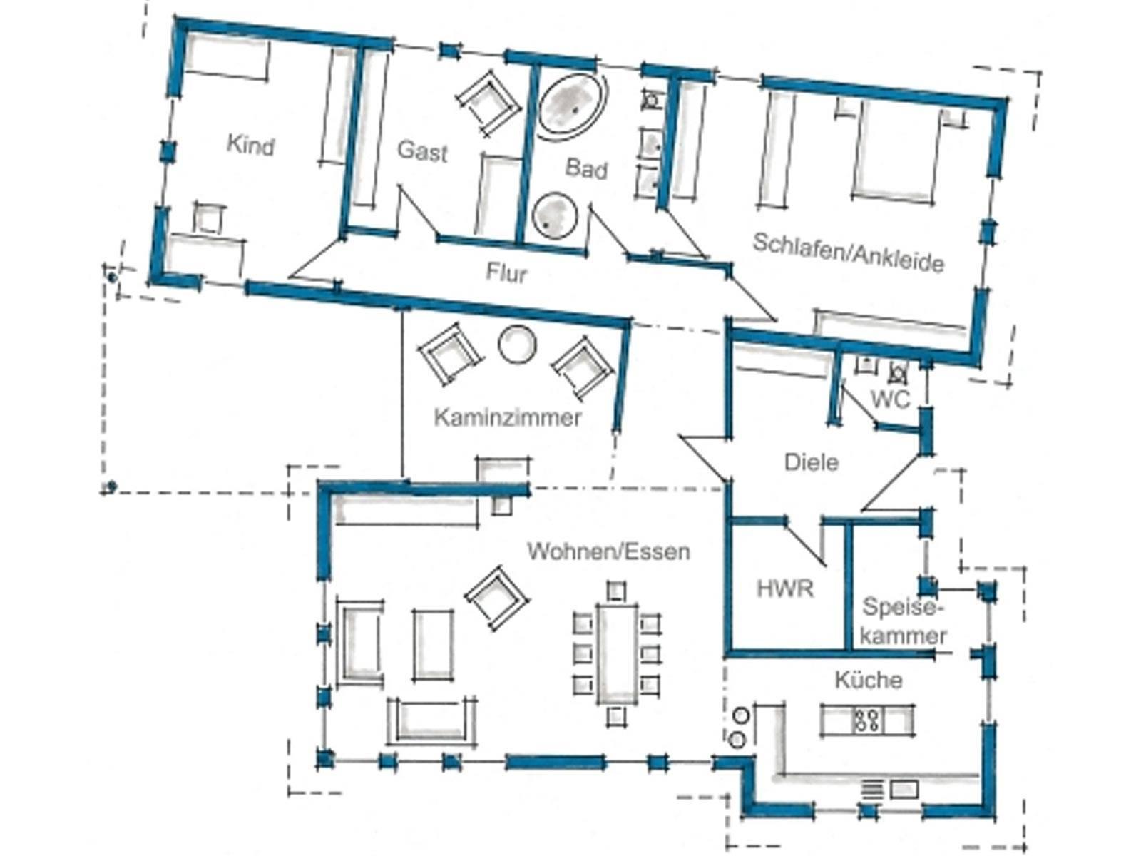 Architektenhaus ebinger fertighaus weiss for Architektenhaus grundriss