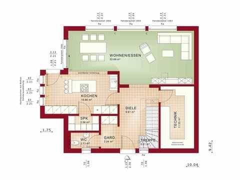 Einfamilienhaus EVOLUTION 154 V10 - Bien-Zenker Grundriss EG