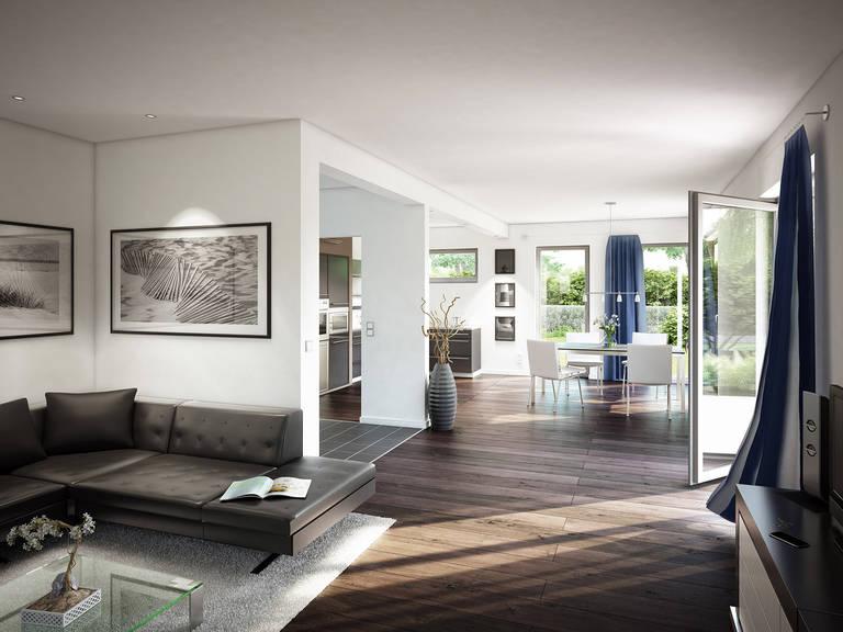 Innenansicht Wohnzimmer - Evolution 165 V3 - Einfamilienhaus von Bien-Zenker