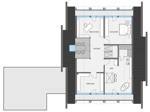 HUF Haus ART 4 weiss Grundriss OG