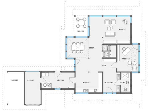 HUF Haus ART 4 weiss Grundriss EG