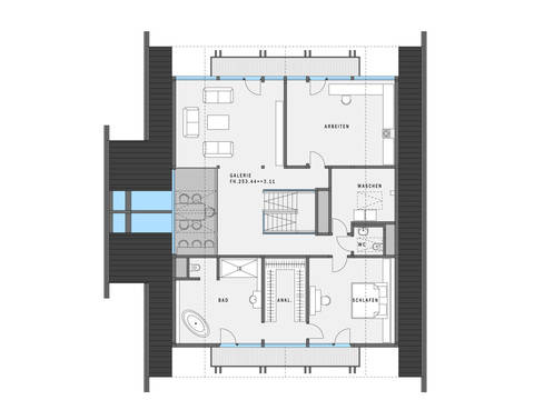 HUF Haus ART 5 Grundriss DG