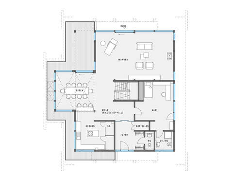 HUF Haus ART 5 Grundriss EG