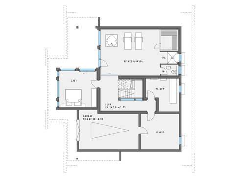 HUF Haus ART 5 Grundriss KG