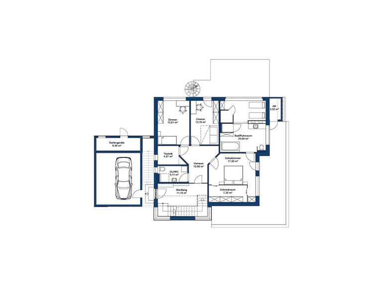 Hartl Haus Liberty 211 Grundriss EG