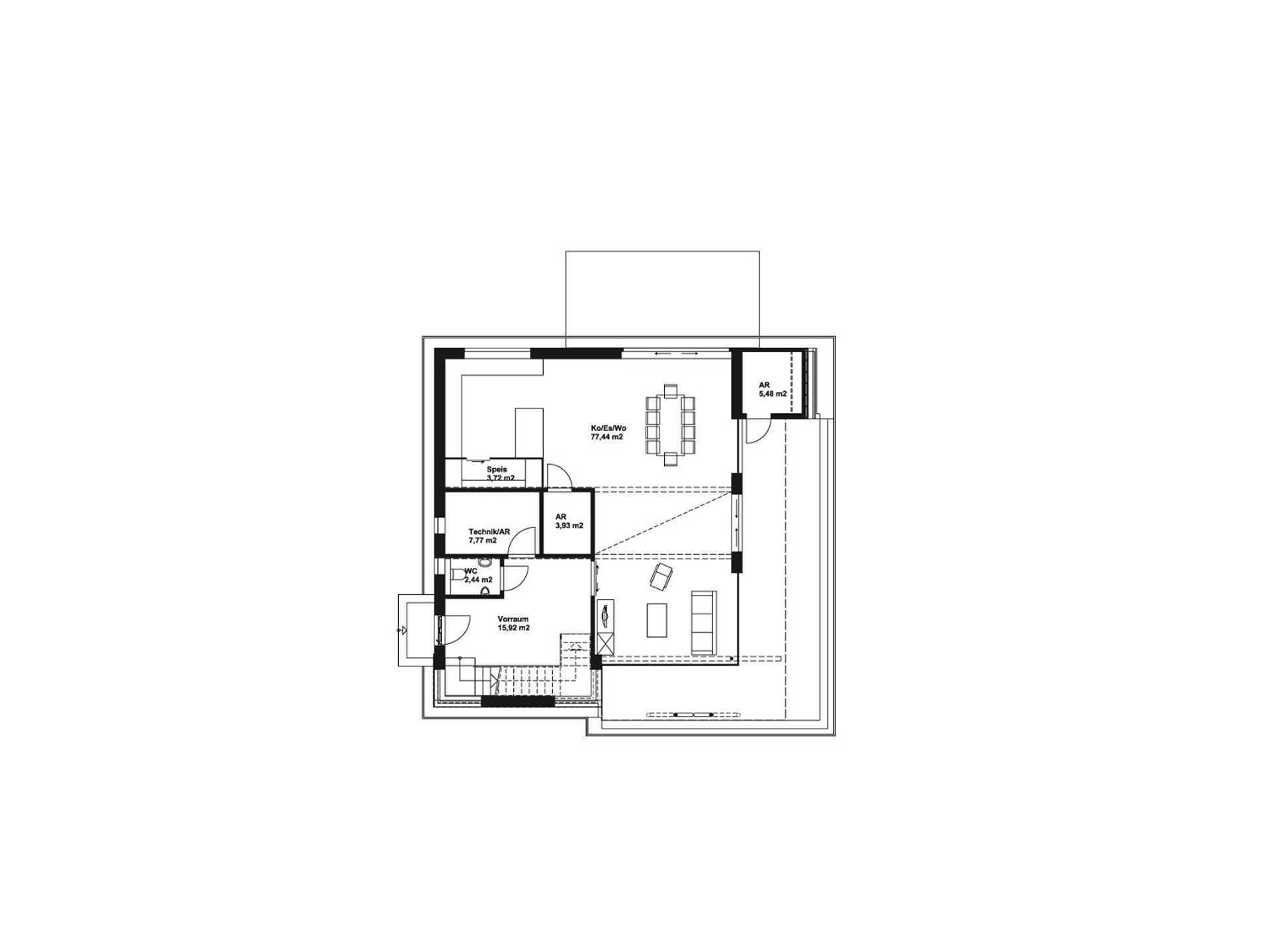 Hartl Haus Liberty 211 Grundriss Variante EG2
