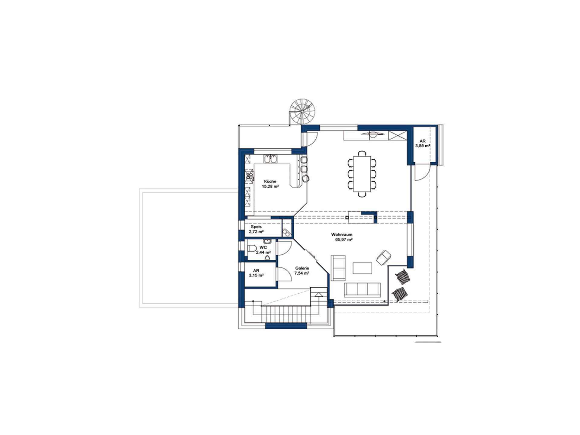 Hartl Haus Liberty 211 Grundriss OG