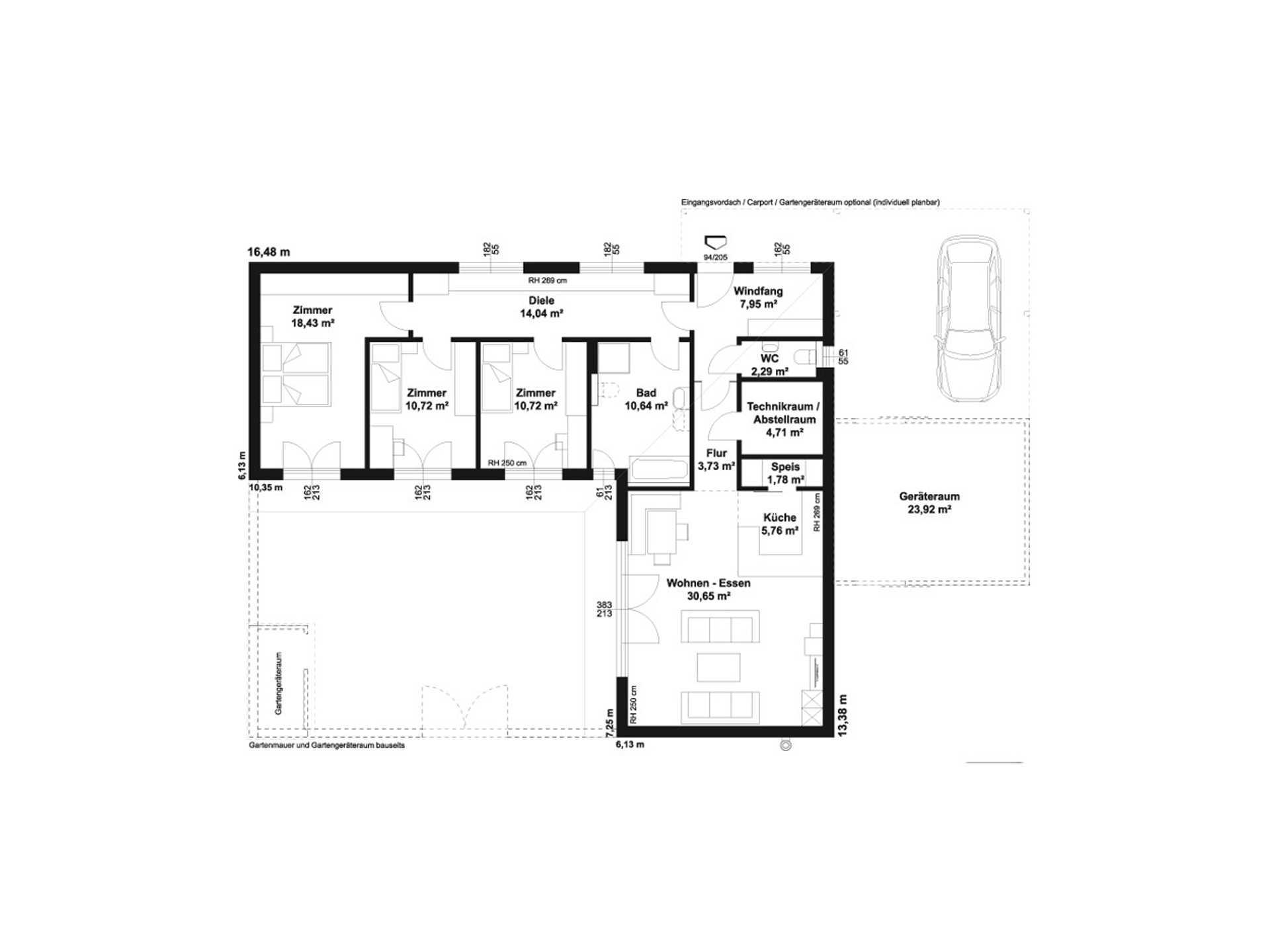 Hartl Haus Avantgarde 121 P Grundriss EG