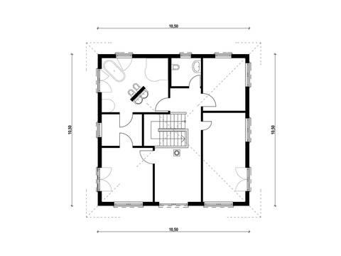 Haus Biller-Rummler Grundriss Dachgeschoss