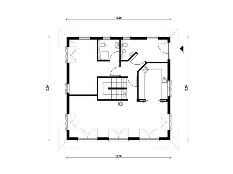 Haus Biller-Rummler Grundriss Erdgeschoss