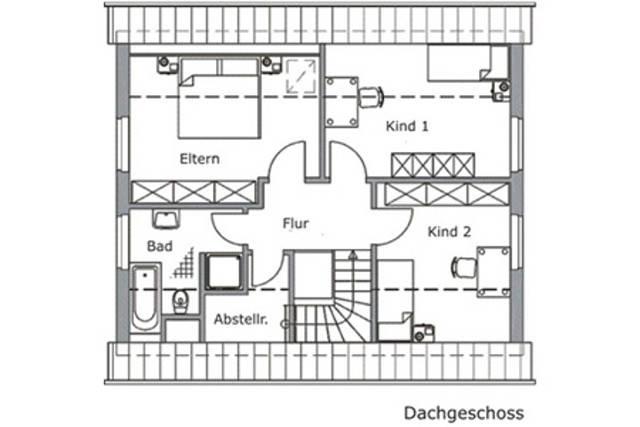 Baudirekt Vialla KS 125 Grundriss DG