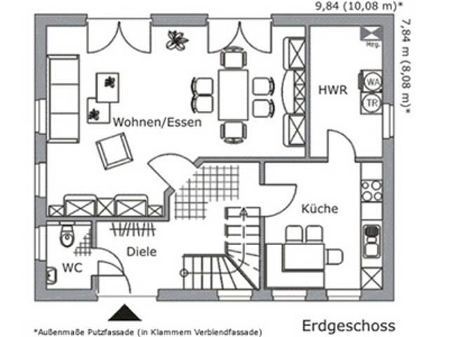 Baudirekt Vialla KS 125 Grundriss EG