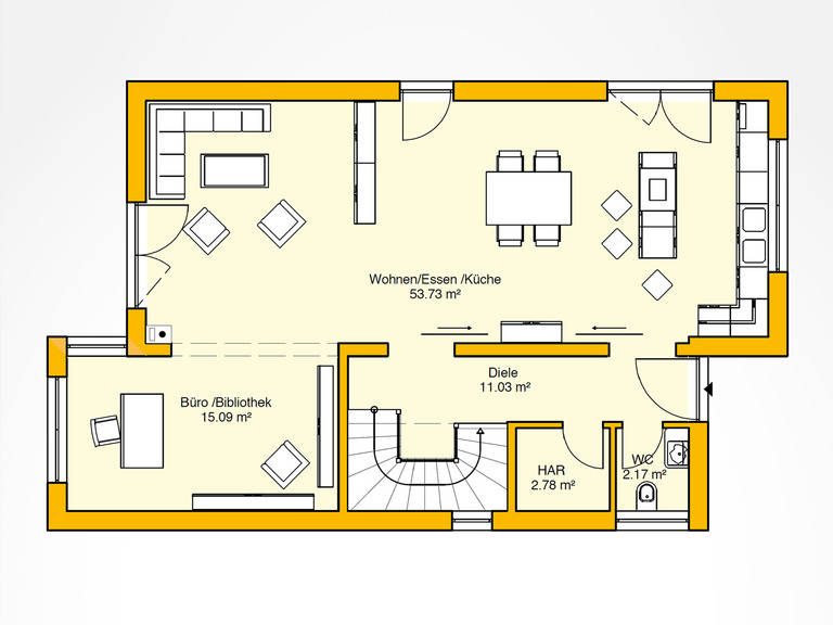 Obergeschoss Beispielhaus 31.0