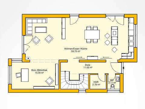 Erdgeschoss Beispielhaus 31.0