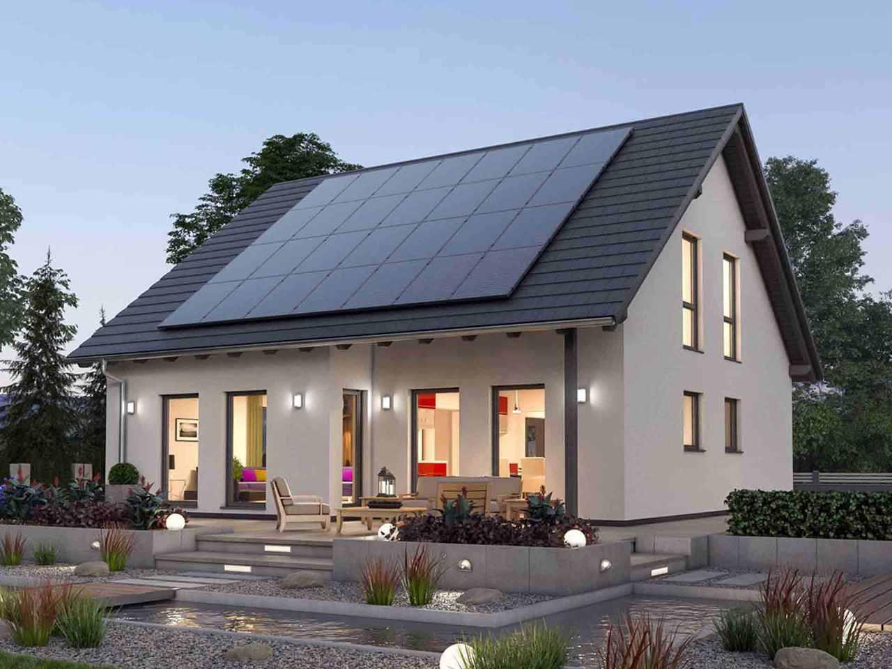 Einfamilienhaus 142 - Ytong Bausatzhaus Terrasse
