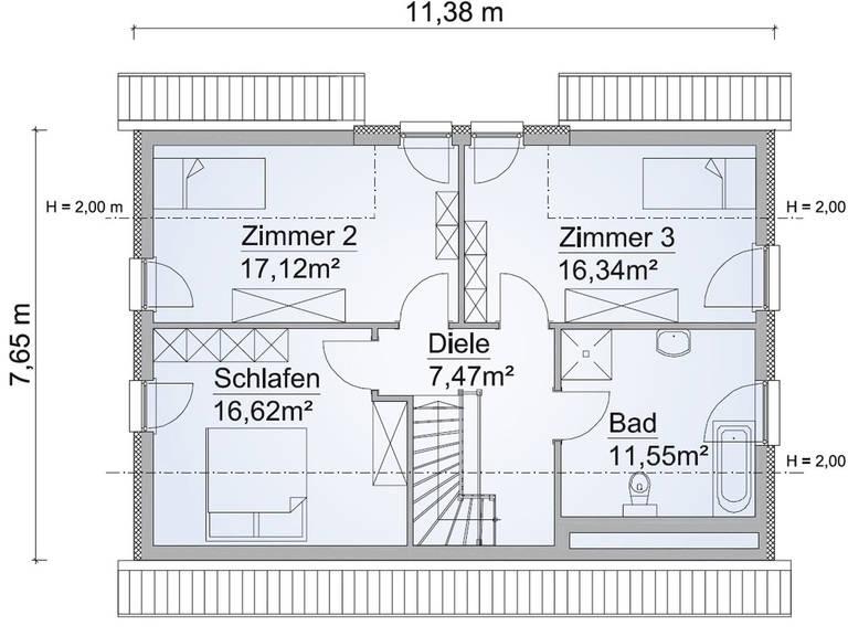 Drempelhaus SH 142 Grundriss OG