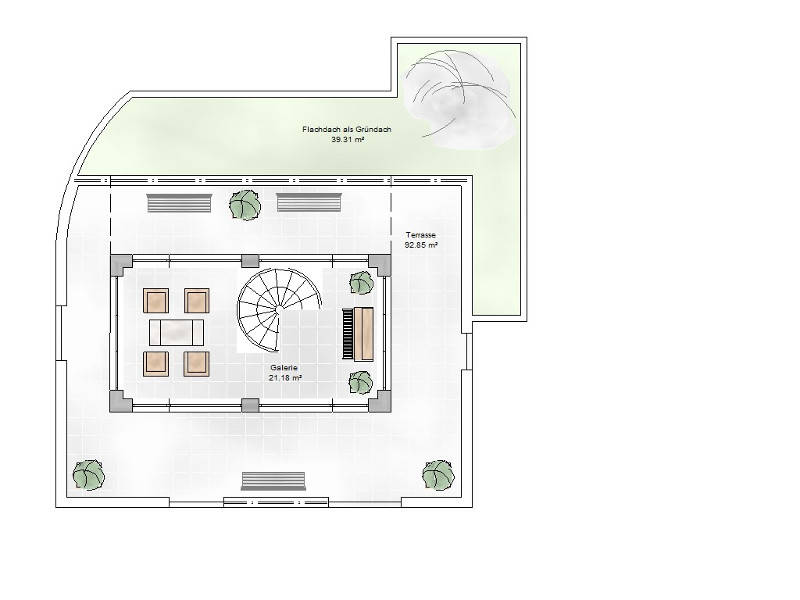 Grundriss Dachgeschoss TYP Villa 300