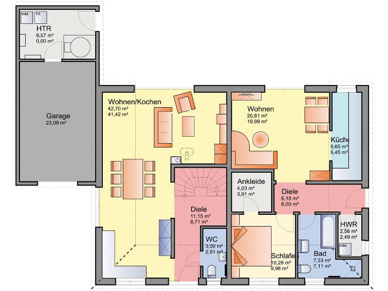 Haus mit 3 zimmer einliegerwohnung  Haus mit Einliegerwohnung - M. Oelschlaeger & Zwar