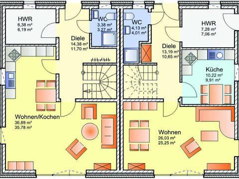 Grundriss Erdgeschoss Doppelhaus 01