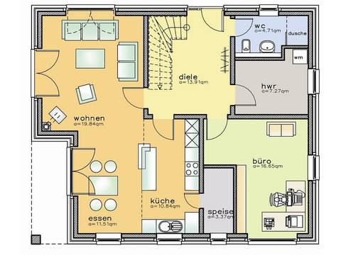 Grundriss Erdgeschoss Einfamilienhaus 47