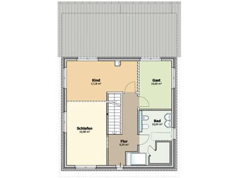 Grundriss Obergeschoss Stadthaus 01