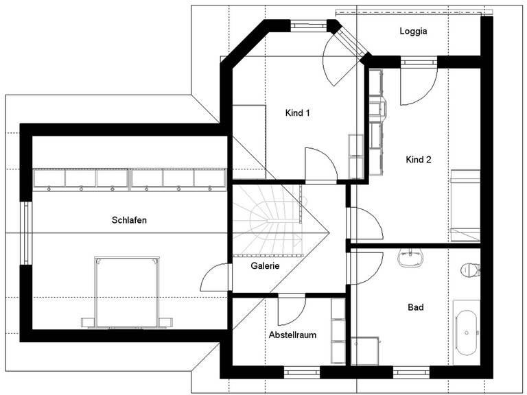 Harzhaus 100 Grundriss Dachgeschoss