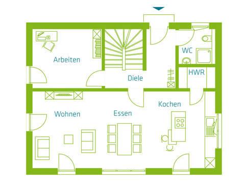 KitzlingerHaus Einfamilienhaus Family Grundriss EG